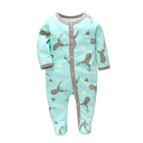 Baby Clothes sleepsuit all in one Boy Girl pink blue Newborn 0-3 m 6 months