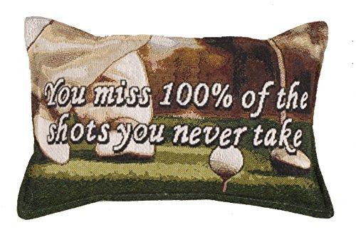 Simply Home Golf Golfing You Miss Shots Tapestry Toss Pillow USA Made SKU - Decorative Tigers Pillow Toss