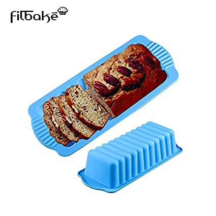 Houseekertools Bread Loaf Pans Silicone Rectangle Shape Baking Tools Chocolate Cake Mold Toast Mould Bread Baking