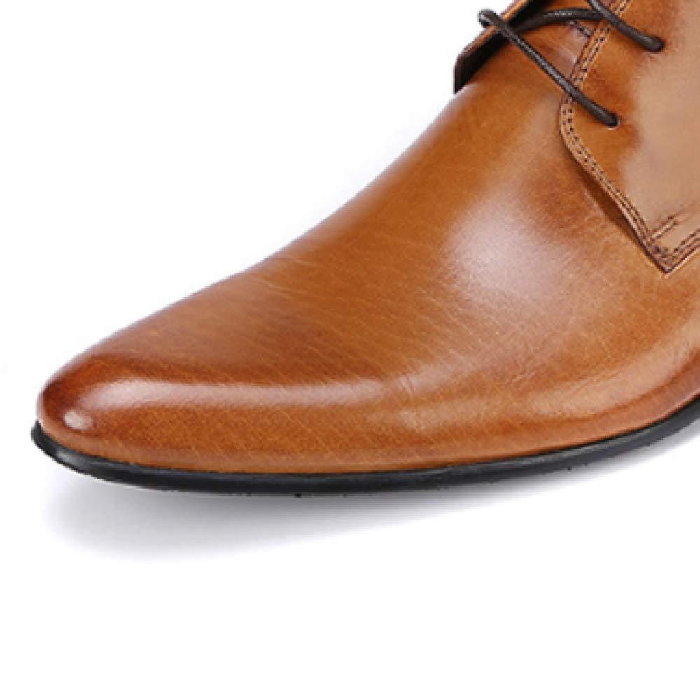 Herrenschuhe England Wies Business Comfort,Braun Europäischen Version Spitze Mode Comfort,Braun Business 37 c77381