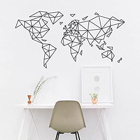 Map Of The World Decal.World Map Wall Art Map Of The World World Map Wall Decal World