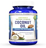 1000 uses for coconut oil - Coconut Oil Capsules - 180 Organic Extra Virgin Softgels 1000 mg - Great Pills for Hair, Skin, Energy and Weight Management (1 Pack)