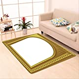 Sophiehome skid Slip rubber back antibacterial Area Rug arch picture frame 4878790 Home Decorative
