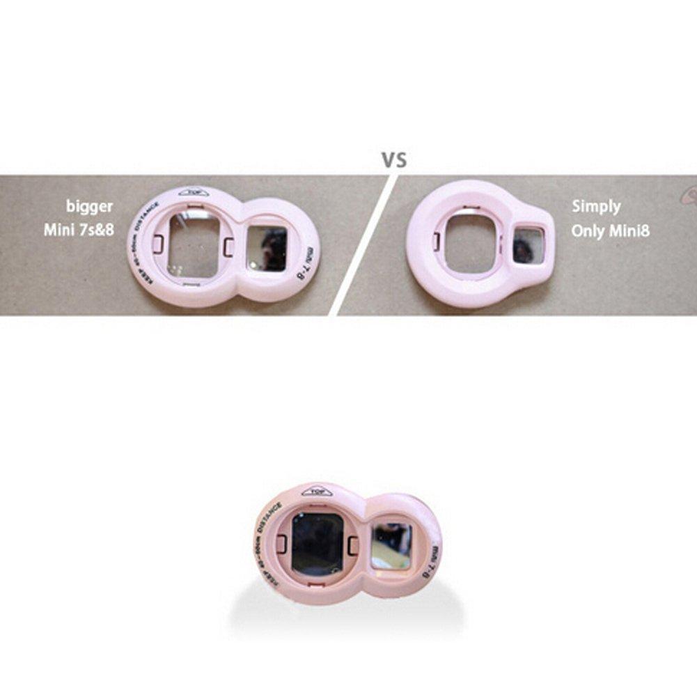 Delleu self-portrait Mirror variet/à per MINI7S//MINI8/9/universale per fotocamera Polaroid self-portrait Mirror rosa rosa