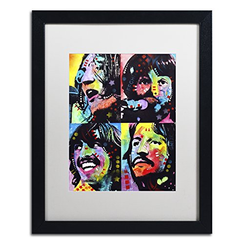 Beatles by Dean Russo, White Matte, Black Frame 16x20-Inch