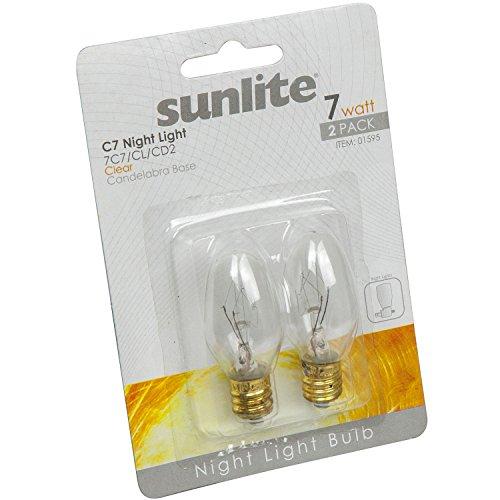 Sunlite 7C7 CL CD2 Incandescent