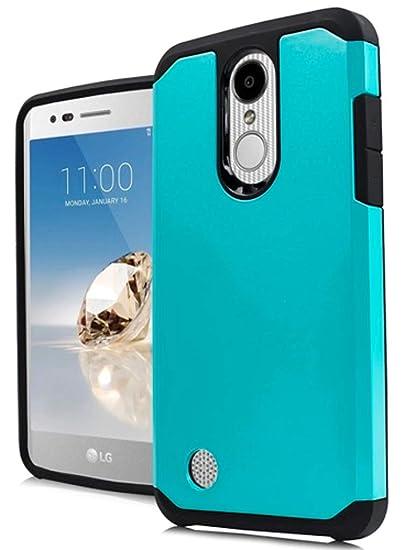 AH2 Hybrid Cover Case for LG Rebel 4 LML212VL / LML211BL (Teal & Black)