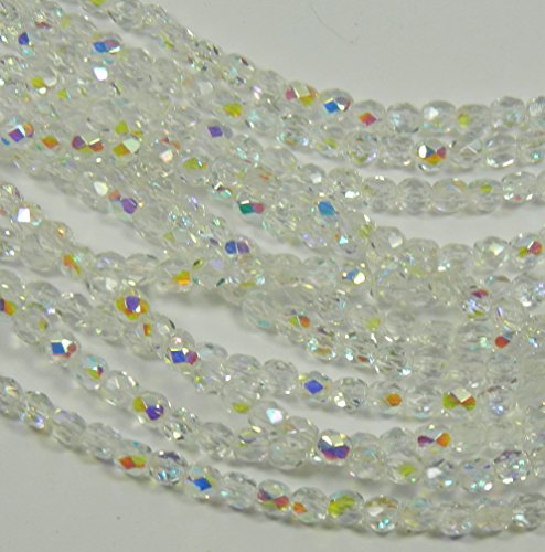 4mm crystal beads - 7