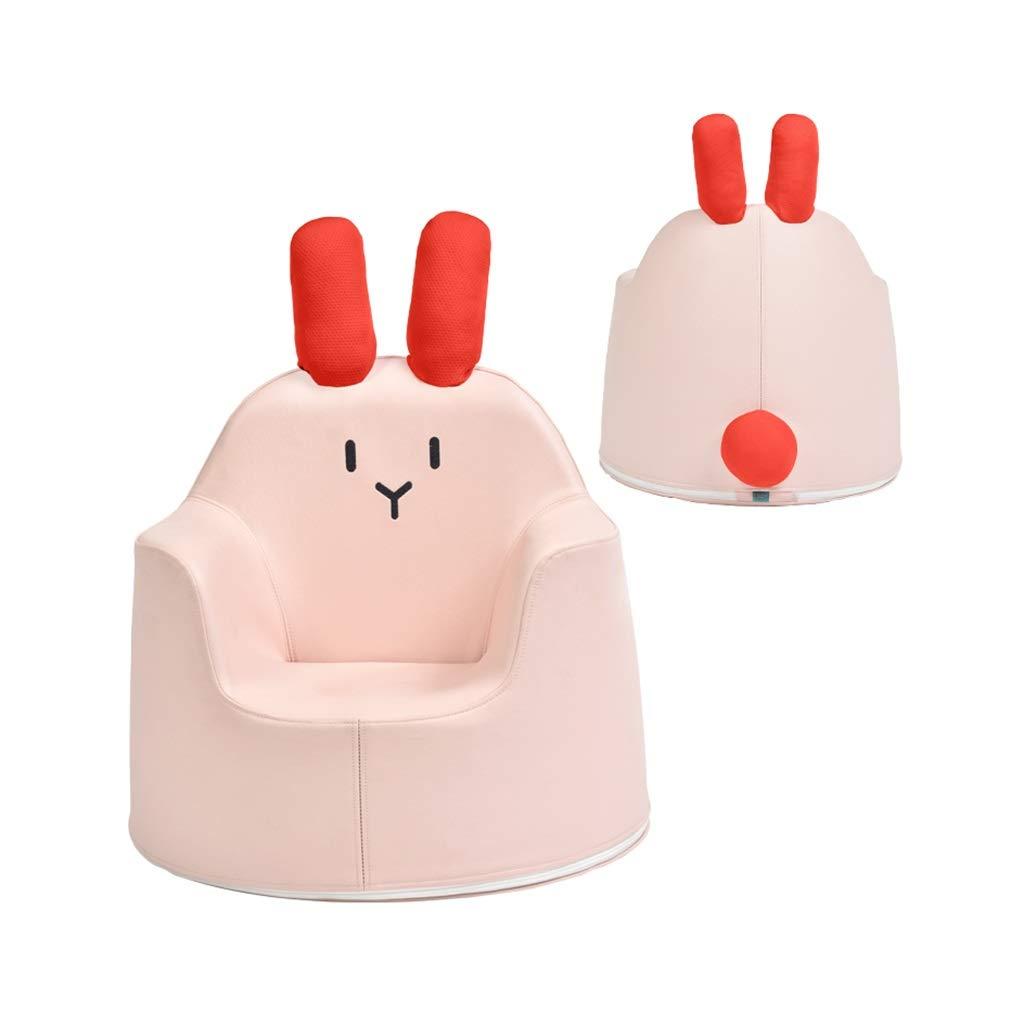 子供のソファ、漫画人工皮革ベビーシート赤ちゃんかわいい学習座っている子アームチェア2色オプション (色 : ピンク)  ピンク B07RQ6QZGF