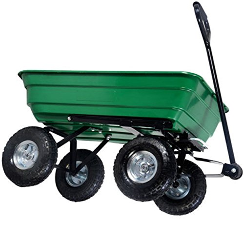 Garden Utility Cart With Wheels : Lb green garden cart dump wagon trailer lawn wheels
