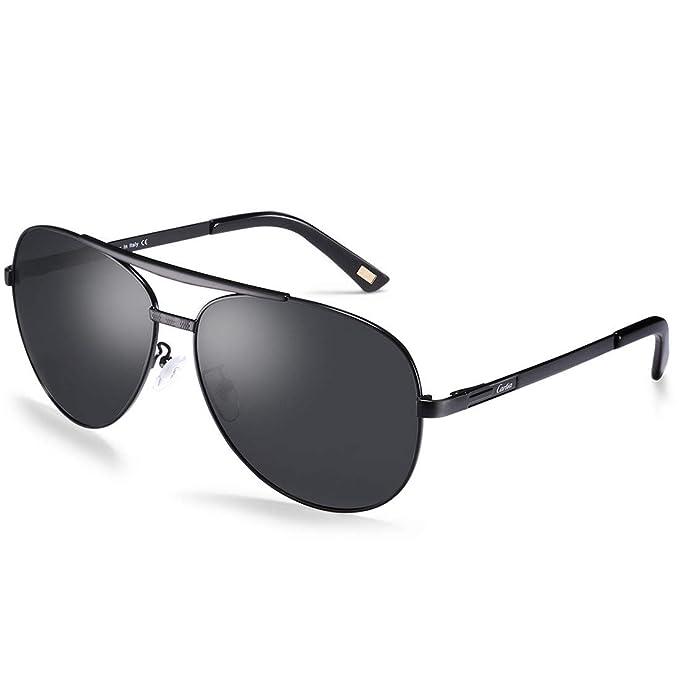 Carfia Aviador Gafas de Sol Hombre Polarizadas Conducción ...