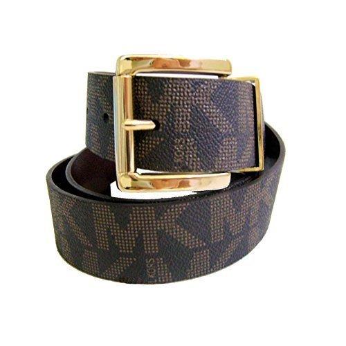 Michael Kors 553143 Women's Gold Tone Buckle Brown Leather Belt Mk Logo Size X-large - Michael Kors Brown Belt