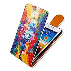 TOPQQ Colorful Mashup Style Up-down Turn Over PU Leather Full Body Case for Samsung Galaxy S2 I9100