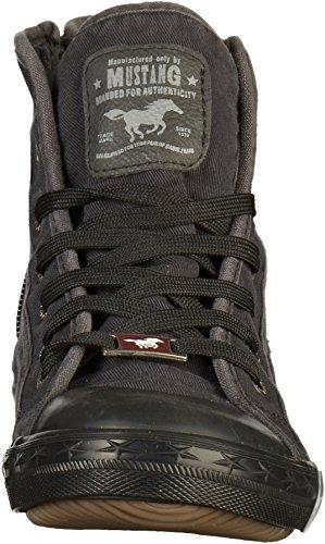 Top Damen Mustang Graphit High Dunkelgrau Grau Sneaker AE0xT0qw