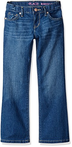 The Children's Place Big Girls' Bootcut Jeans, Indigo Stone, (Elastic Girls Jeans)