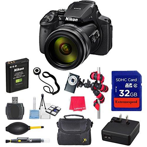 Nikon COOLPIX P900s Digital Camera with 32GB High Speed M...
