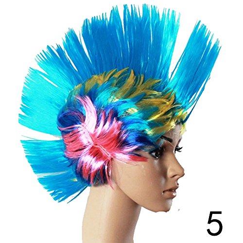 Gracefulvara Punk Rocker Wig for Fancy Party Costume Dress (Unisex Long Rocker Wig)