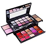 SHANY Cosmetics Fierce & Flawless All-in-One Compact with Mirror, 15 Eye Shadows, 2 Bronzers, 2 Blushes and 15 Lip/Eye Glosses - Applicators Included