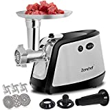 ZenChef Pro 3-in-1 Electric Meat Grinder, Meat Mincer & Sausage Stuffer. 1000Watt Electric Food Grinder w/3 Stainless Steel Blades & Plates. Kubbe Kit included for Home & Commercial Use
