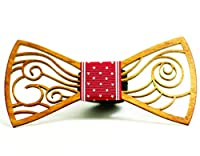 Men's Wooden Bow Tie Unisex, Adjustable strip, Comes With a Gift Box