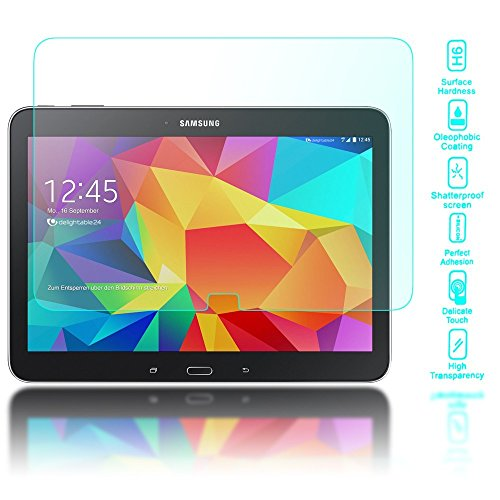 Archos Screen Protector (delightable24 Premium Tempered Glass Screen Protector for Samsung Galaxy TAB 4 10.1 Tablet - Crystal Clear)