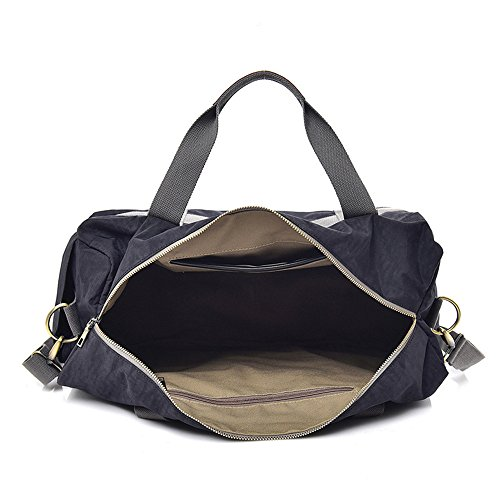 Luggage color Large Bag Black Women Men Canvas Women Weekender At Travel Gray Night Gimitunus Travel Duffel wOgtnz