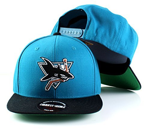 San Jose Sharks NHL American Needle Wool Flat Bill Adjustable Snapback Hat