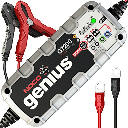 NOCO Genius G7200 12V/24V 7.2A UltraSafe Smart Battery Charger (Force Camo Ultra Sky)