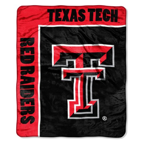 "Officially Licensed NCAA Texas Tech Red Raiders School Spirit Plush Raschel Throw Blanket, 50"" x 60"""