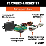 CURT 56333 Vehicle-Side Custom 4-Pin Trailer Wiring