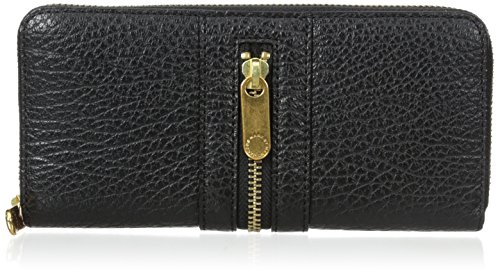 Marc by Marc Jacobs Roadster Slim Zip Around Wallet, Black, One Size