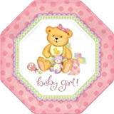 Precious Bear Pink Shaped Dinner Plates, 8ct