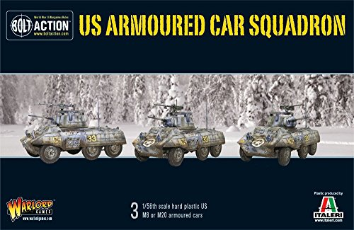 Warlord Games  M8/M20 GREYHOUND SCOUT CAR SQUADRON - Bolt Action Wargaming Miniatures