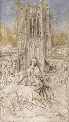 [Oil Painting 'Jan Van Eyck - Saint Barbara, 1437', 24 x 42 inch / 61 x 107 cm , on High Definition HD canvas prints is for Gifts And Bath Room, Kitchen And Study Room Decoration,] (Van Gun X Sword Costume)