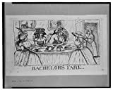 Vintography Professionally Reproduced Photo: Bachelors Fare,1787,Kissing,Relations Between The Sexes,England,Beer,Swift
