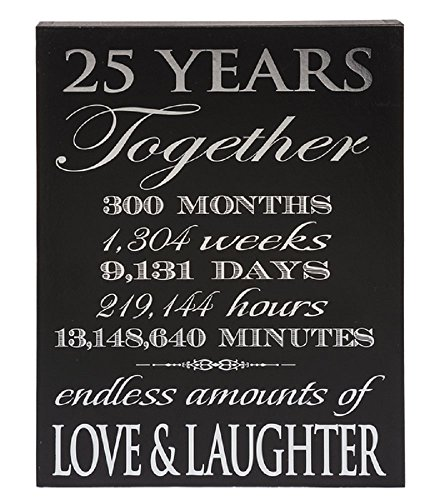 Ganz 25th Anniversary 25 Wonderful Years Decorative Box Plaque ()