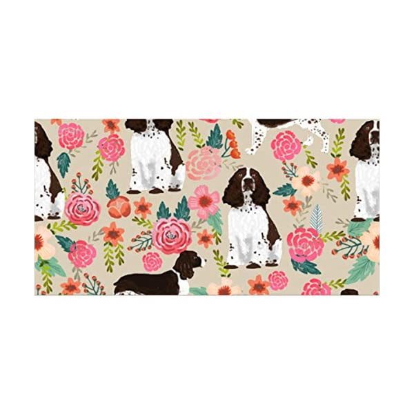 "NiYoung Beach Towels for Travel English Springer Spaniel Beach Towel Prints for Beach, Travel, Cruise, Outdoor, Thick Beach Towels, 28""x56"" 2"