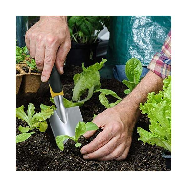 Queta - Set di attrezzi da giardino, con cesoie, paletta, macchina per piante, rastrelliera 7 spesavip