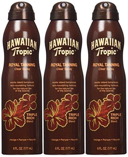 Hawaiian Tropic Royal Tanning Blend Spray 5.4 oz (Pack of 3)