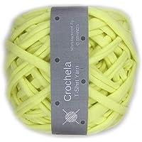 Crochela Cotton Polyester T-Shirt Yarn (Lemon Yellow)