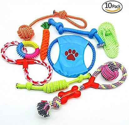 ToWinle 10stk Perros Juguete kauspielzeug Cuerda Juguetes de ...