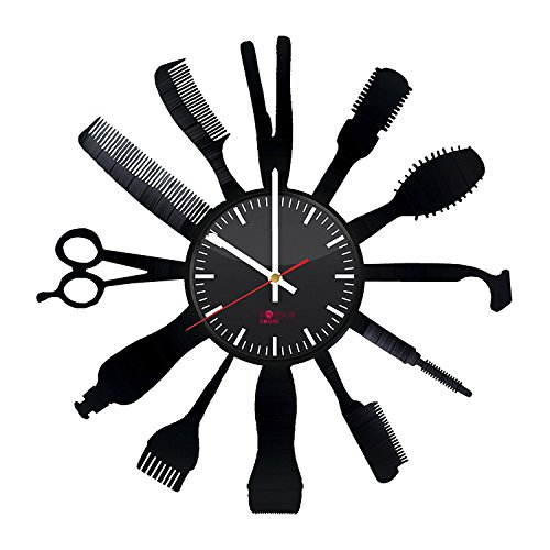 - BorschToday Barber Shop Equipment Design Vinyl Record Wall Clock - Get unique home room or office wall decor - Gift ideas for his and her – Barber Shop Supplies Unique Modern Art