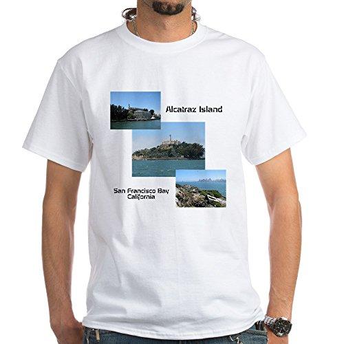 CafePress Alcatraz Island Collage White T-Shirt - 100% Cotton T-Shirt, - Park Pier Stores