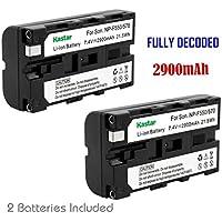 Kastar NP-F570 Battery (2-Pack) for NP-F570, NP-F550, NP-F530, NP-F330 work with Sony CCD-RV100, CCD-RV200, CCD-SC5, CCD-SC6, CCD-SC55, CCD-SC65, CCD-TRV66, CCD-TRV67, DCM-M1, DCR-SC100, DCR-TR7, DSC-CD250, DSC-CD400, DSC-D700, DSC-D770, D-V500, EVO-250, GV-A100, GV-A500, HDR-AX2000, HDR-FX7, HDR-FX1000, HVR-M10P, HVR-M10U, HVR-V1J, HVR-V1U, HVR-Z7U, HXR-NX5, HXR-NX5U, NEX-FS100