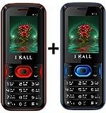 I KALL 4.57cm (1.8 Inch) Combo Phone-K12 (Red & Blue)
