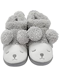 Warm Indoor Slippers Women Fleece Plush Bedroom House Shoes Non Slip Winter Boots