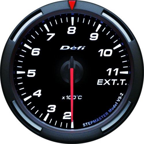 Defi DF11806 Racer Gauge Exhaust Temperature Gauge, White, 60mm