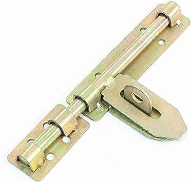 Movimiento y movimiento™ cajón metálico de seguridad cierre para puerta corredera pestillo Set 18,03 cm largo: Amazon.es: Bricolaje y herramientas