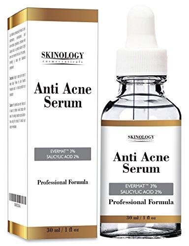 Traitement de l'acné pour visage & Pore Minimizer sérum - dermatologue testé le produit, les ingrédients bio pour aider à contrôler & se débarrasser de l'acné, Great Anti acné traitement localisé, réduit visiblement les cicatrices d'acné - 1 oz