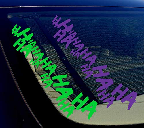 OwnTheAvenue 2X Joker Hahaha Serious Super Bad Evil Body Windshield Car Sticker Decal 16